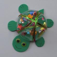 Schildkröte aus Plastikflasche