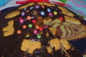 Zebrakuchen angeschnitten