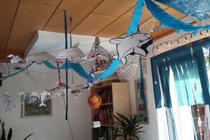 Delfin-Girlanden & -Strohhalme