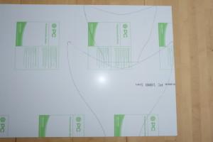 9c - Flossenvorlage auf PVC