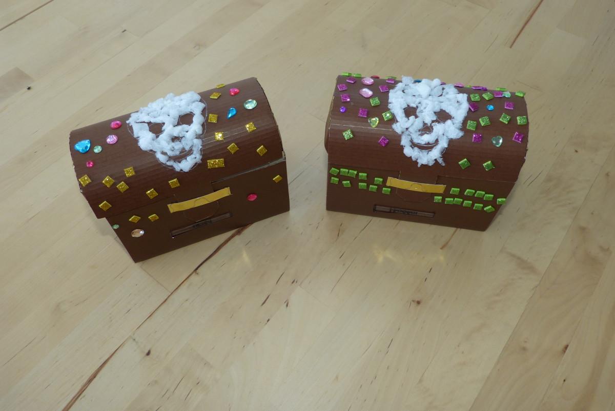 Schatztruhen bekleben party spiel partiesserie - Piraten deko basteln ...