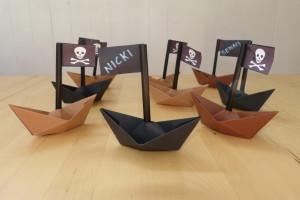 Piratenschiff-Tischkarten