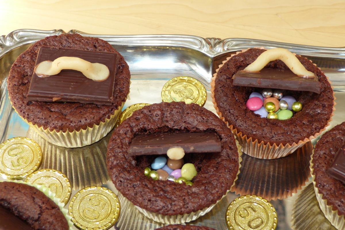 Schatztruhen Muffins Anleitung Partiesserie
