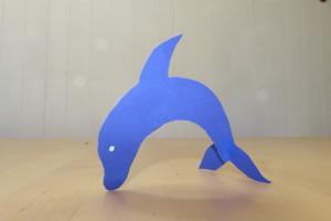 Tischdeko-Delfin