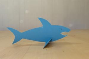 Tischdeko-Hai