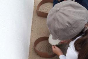 Detektiv-Aufgabe: Fußabdrücke untersuchen
