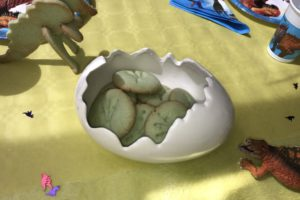 Dino-Fußabdruck-Kekse