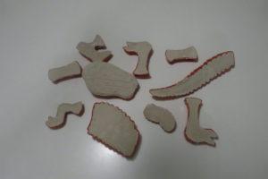 Dino-Skelett-Teile