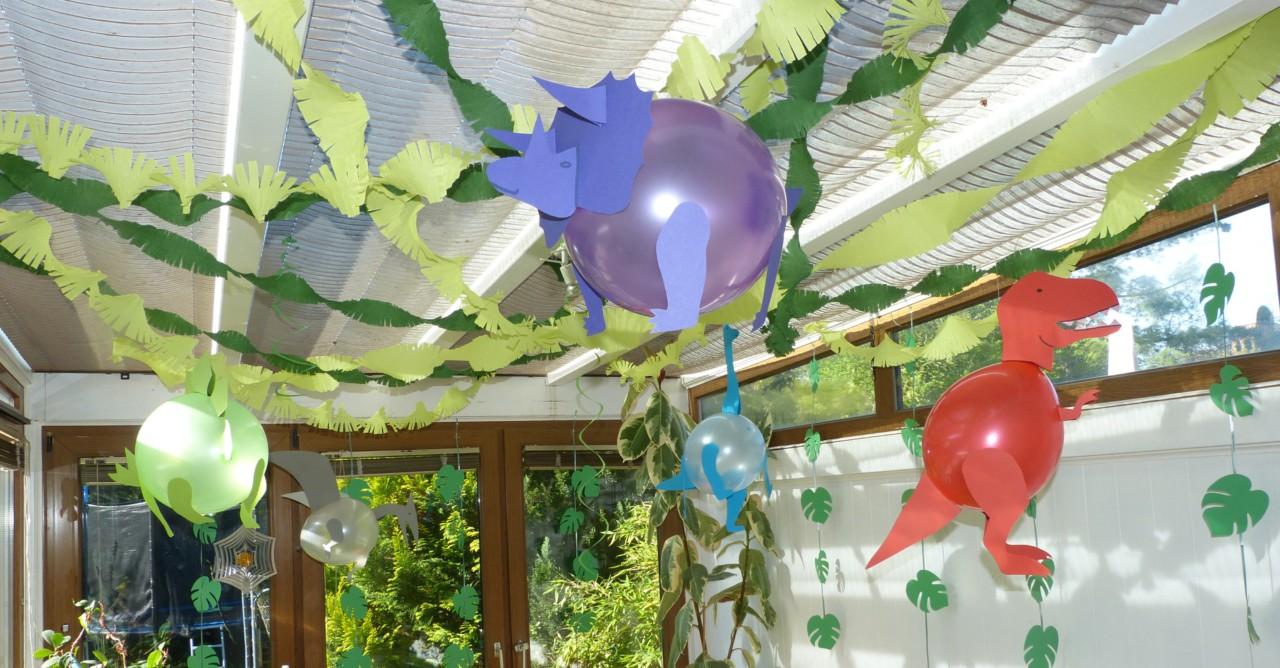 Luftballon Dinosaurier Basteln Bastelanleitung Partiesserie