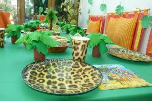 Dschungel-Tisch-Deko